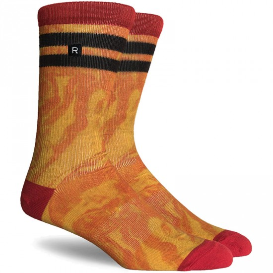 Richer Poorer Shuttle Socks - Red