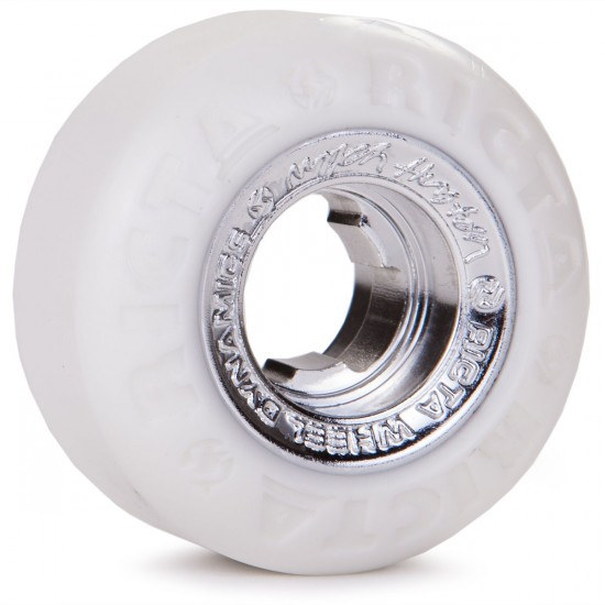 Ricta Nyjah Huston Chrome Core Skateboard Wheels - Silver - 53mm - 81b