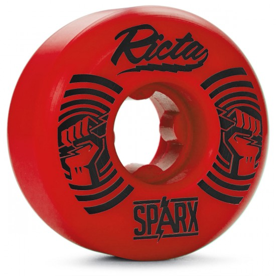 Ricta Sparx Shockwaves Skateboard Wheels - 52mm - Red