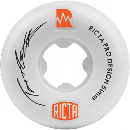 Ricta Tom Asta Pro NRG Skateboard Wheels - 51mm - White