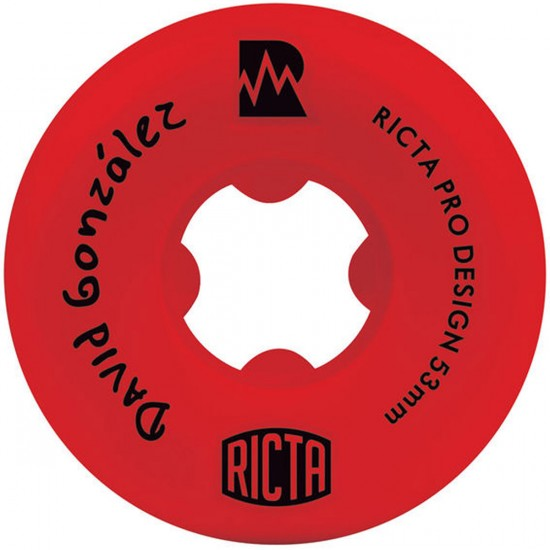 Ricta David Gonzalez Pro NRG Skateboard Wheels - Red - 53mm - 81b