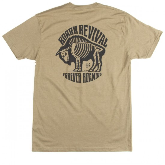 Roark Buffalo Hobo Nickel T-Shirt - Heather Green