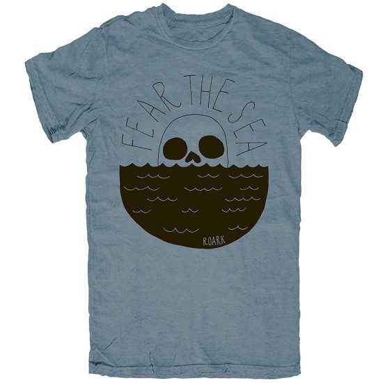 Roark Fear The Sea T-Shirt - Heather Indigo