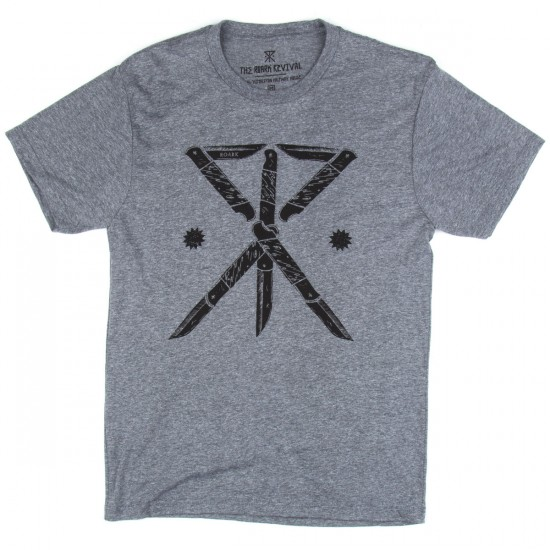 Roark Play With Knives T-Shirt - Heather Grey
