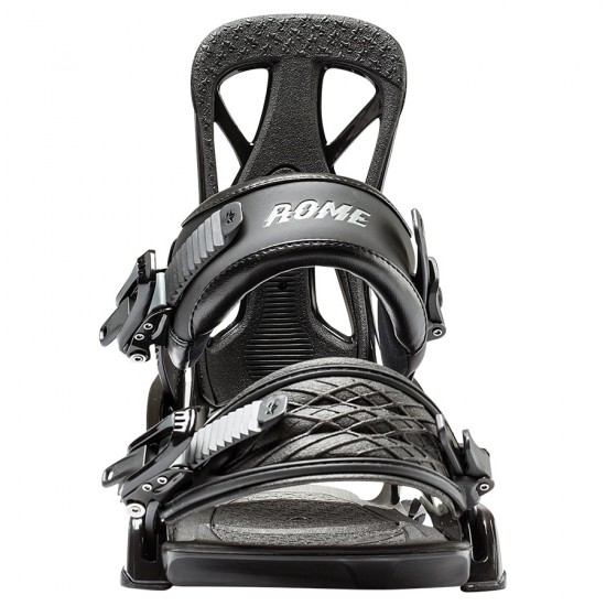 Rome United Snowboard Bindings 2017 - Black