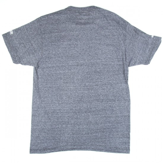 Rook Candy Cane Embroidered T-Shirt - Heather Grey
