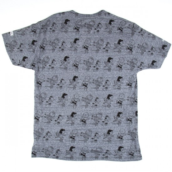 Rook Gang Skate All Over T-Shirt - Heather Grey