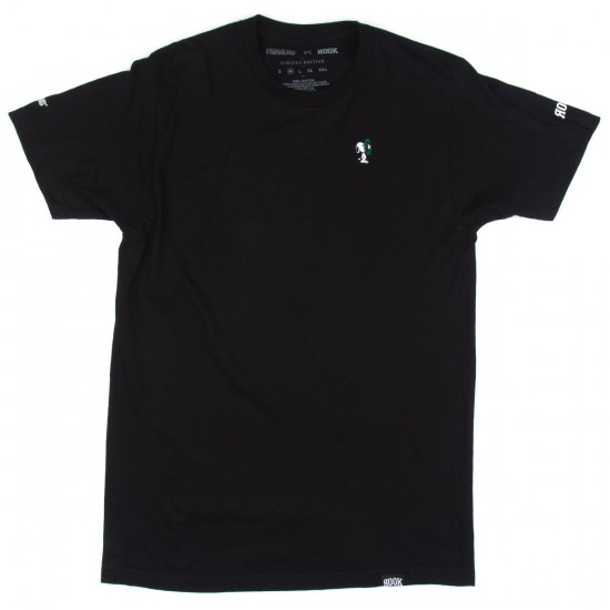 Rook Wreath Guard Embroidered T-Shirt - Black
