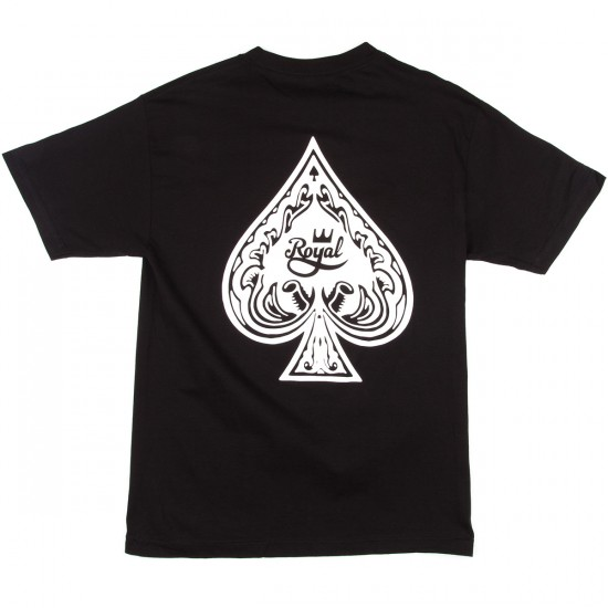 Royal Ace Of Spades T-Shirt - Black