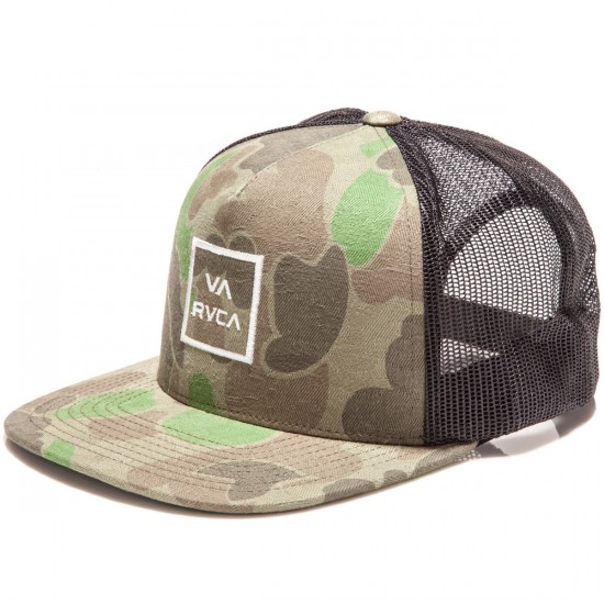 RVCA All The Way 3 Trucker Hat - Olive Camo