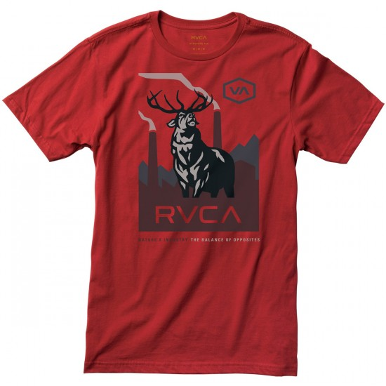 RVCA Balance Elk Youth T-Shirt - Red