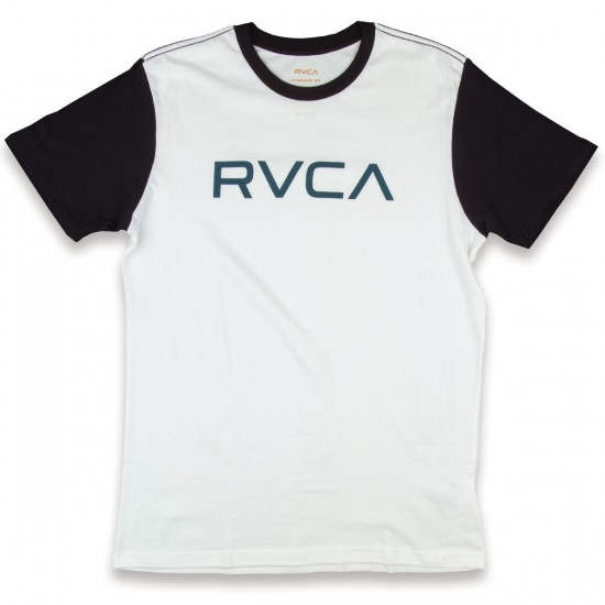 RVCA Big RVCA T-Shirt - White with Black