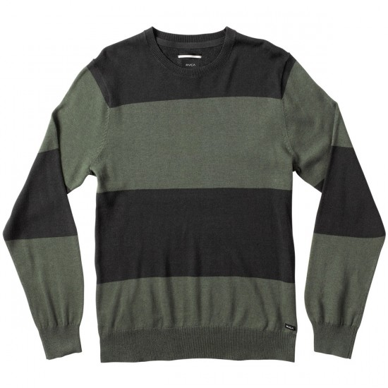 RVCA Block Plate Crew Sweater - Pirate Black