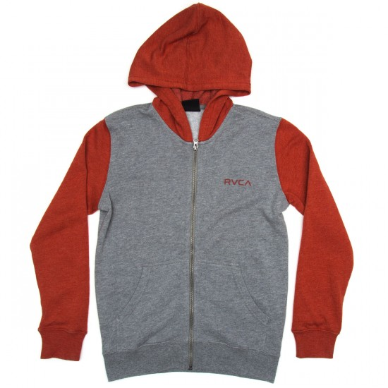 RVCA Circle Type Boys Hoodie - Athletic/Red