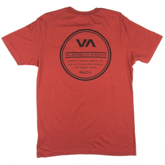 RVCA Circle Type T-Shirt - Ketchup