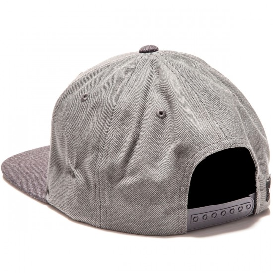 RVCA Commonwealth II Snapback Hat - Grey