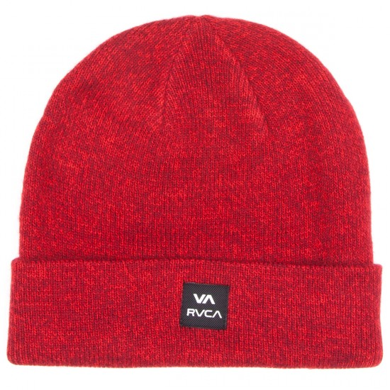 RVCA Convoy Beanie - Red Heather