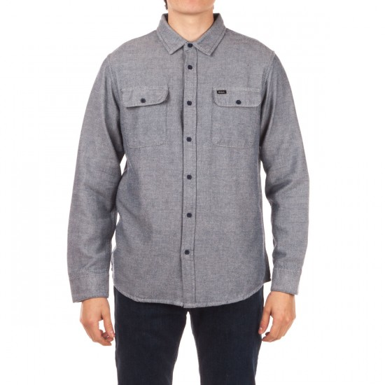 RVCA Coyote Flannel Shirt - Midnight