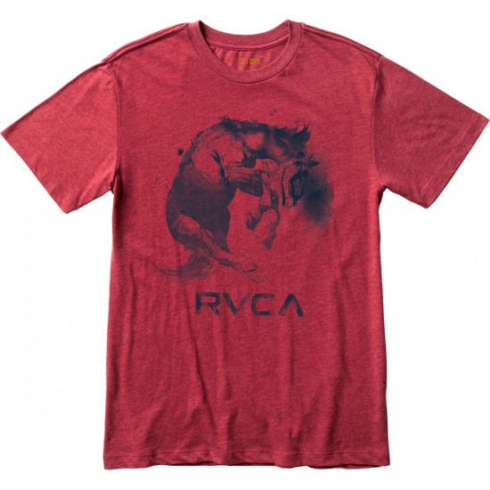 RVCA Crazy Horse T-Shirt - Brick Red