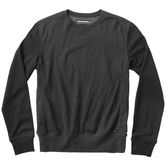RVCA Crucial Crew Sweatshirt - Charcoal Heather