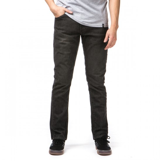 RVCA Daggers Denim Pants - Beaten Black - 28 - 32