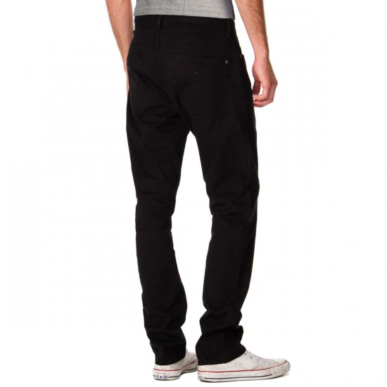 RVCA Daggers Twill Pants - Black - 29 - 32