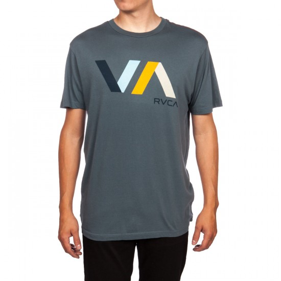 RVCA Diagonals VA T-Shirt - Dark Slate