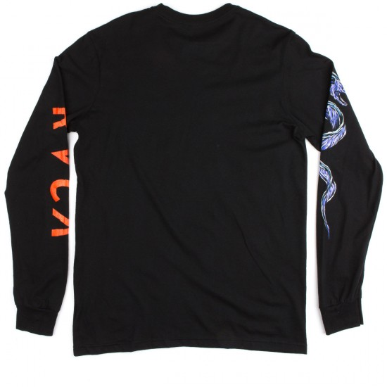 RVCA Eels Long Sleeve T-Shirt - Black