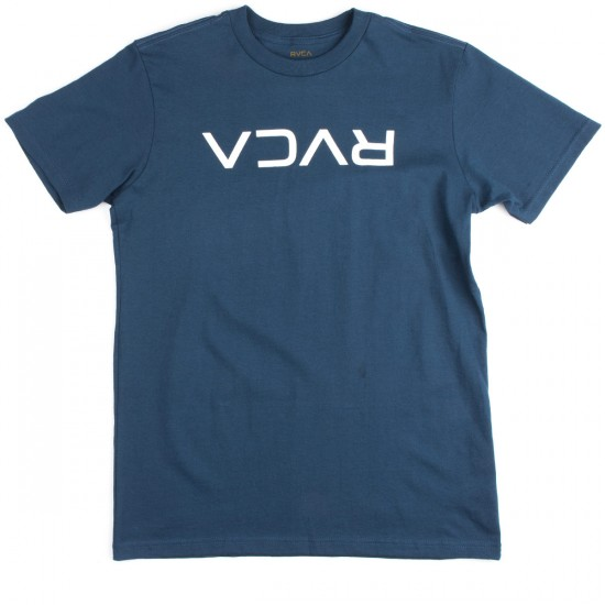 RVCA Flipped RVCA T-Shirt - Harbor Blue