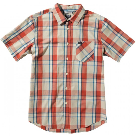 RVCA Goldy Youth Shirt - Barn Red