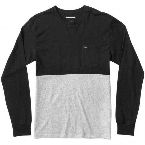RVCA Halfway Crew Long Sleeve T-Shirt - Black