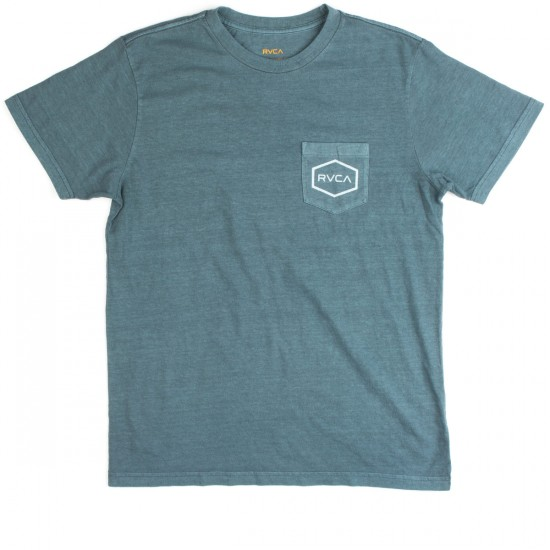RVCA Hexed T-Shirt - Stormy Blue