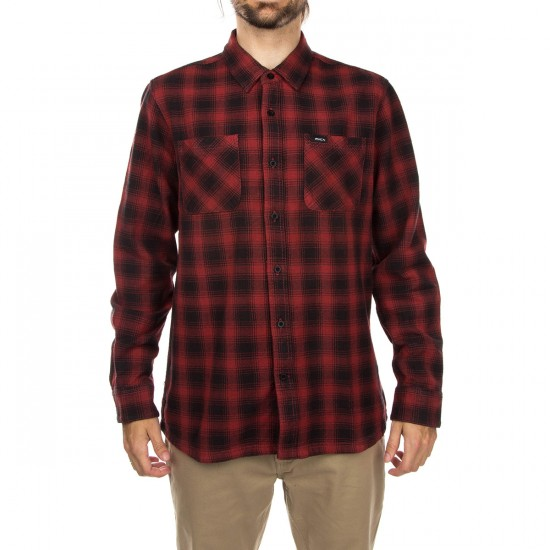 RVCA Lowdown Long Sleeve Shirt - Rosewood