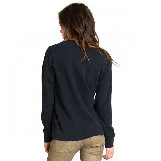 RVCA Out There Womens Sweatshirt - Black