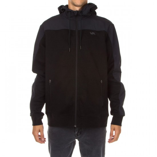 RVCA Overlay Tech Fleece Hoodie - Black