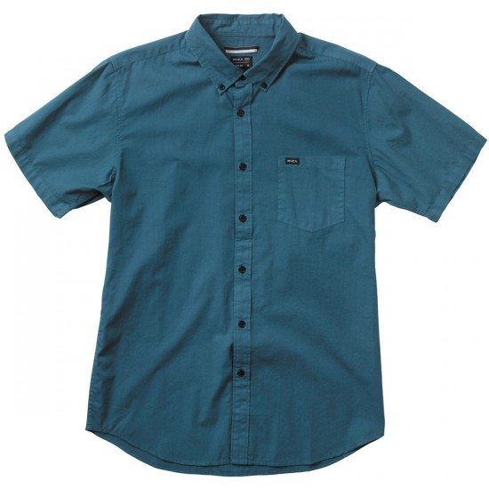 RVCA Revival Short Sleeve Shirt - Mallard Blue