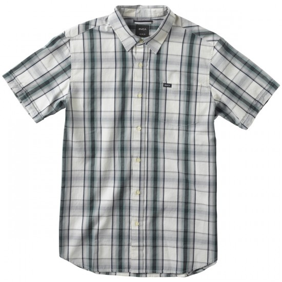 RVCA Run On Short Sleeve Shirt - Silver Bleach