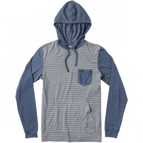 RVCA Set Up Youth Hoodie - Grey Noise/Midnight