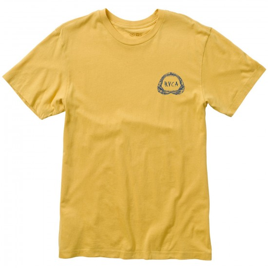 RVCA Shark Teeth T-Shirt - Ochre