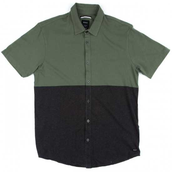 RVCA Smoothed Out Short Sleeve Shirt - Dark Olive