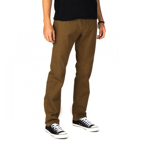 RVCA Stay RVCA Pants - Bark - 28 - 32