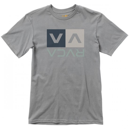 RVCA Stripe Box T-Shirt - Pavement