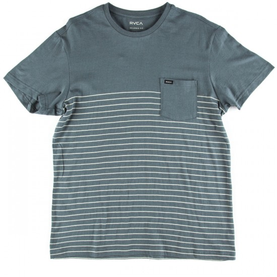 RVCA Switch Up Crew T-Shirt - Stormy Blue