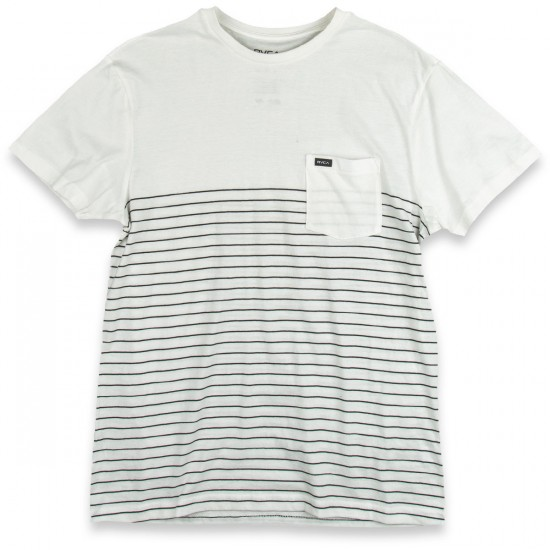 RVCA Switch Up Crew T-Shirt - Vintage White