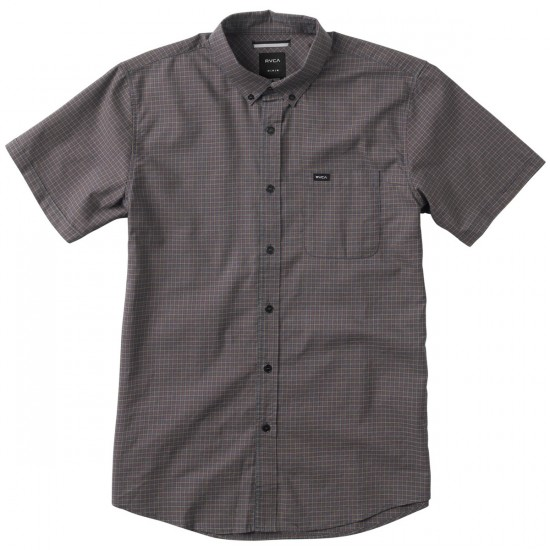 RVCA That'll Do Check Short Sleeve Shirt - Midnight