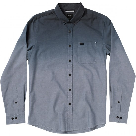 RVCA That'll Do Dip Long Sleeve Shirt - Midnight