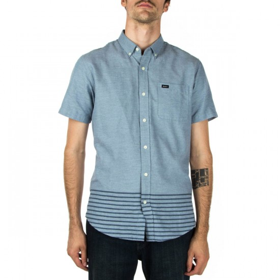 RVCA That'll Do Layers Short Sleeve Shirt - Blue Grey