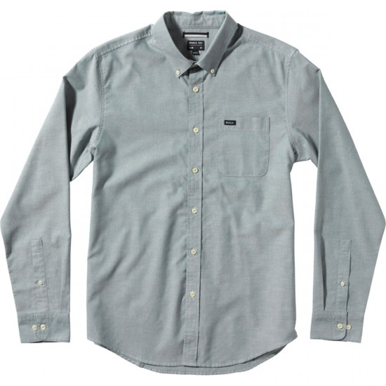 RVCA That'll Do Oxford Long Sleeve Shirt - Pacific