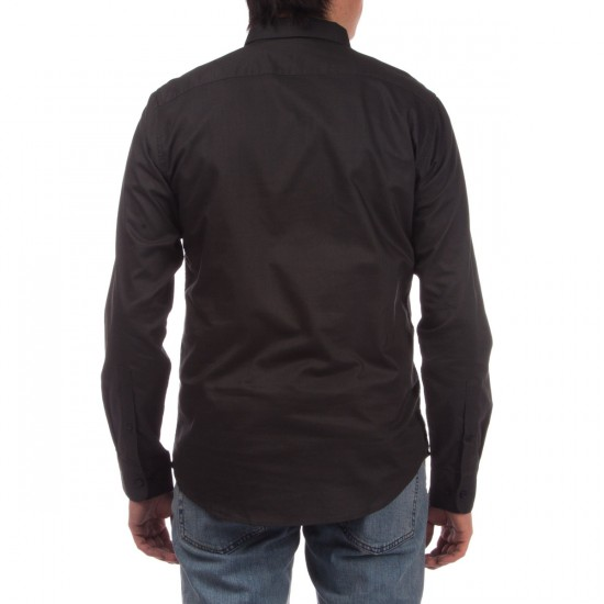 RVCA That'll Do Oxford Long Sleeve Shirt - Pirate Black