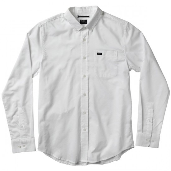 RVCA That'll Do Oxford Long Sleeve Shirt - White